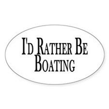 Rather Be Boating Oval Decal
