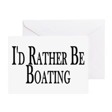 Rather Be Boating Greeting Card