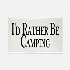 Rather Be Camping Rectangle Magnet