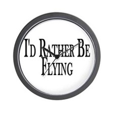 Rather Be Flying Wall Clock