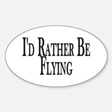 Rather Be Flying Oval Stickers