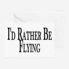 Rather Be Flying Greeting Cards (Pk of 20)