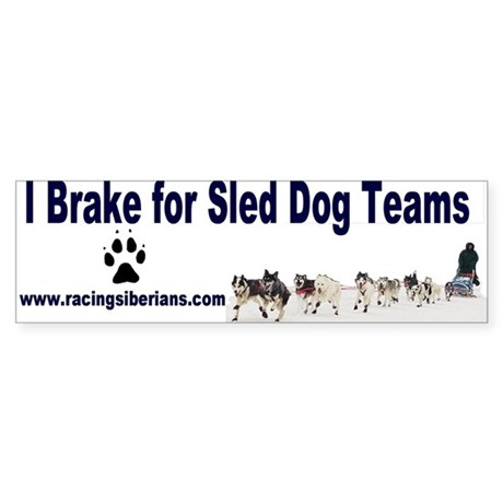 MCK Racing Siberians Bumper Sticker