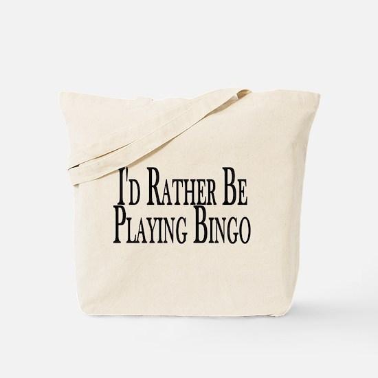 Rather Play Bingo Tote Bag