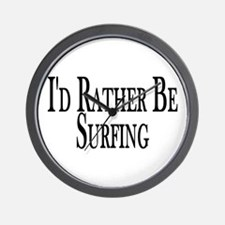 Rather Be Surfing Wall Clock