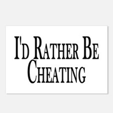 Rather Be Cheating Postcards (Package of 8)