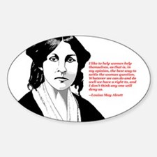 Alcott women quote Oval Decal