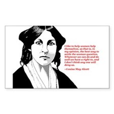 Alcott women quote Rectangle Decal