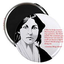 "Alcott women quote 2.25"" Magnet (100 pack)"