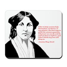 Alcott women quote Mousepad