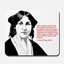 Alcott women quote Mousepad