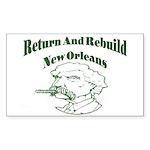 Hurricane Katrina Survivor Rectangle Sticker