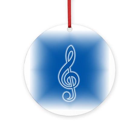 Treble Clef Ornament (Round)