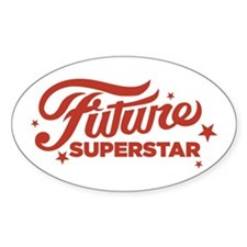 Future Superstar Oval Decal