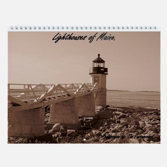 Maine Lighthouse Wall Calendar