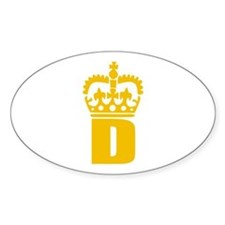 D - character - name Oval Decal