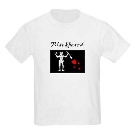 Blackbeard Pirate Flag Kids Light T-Shirt