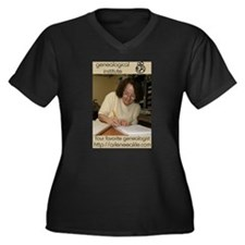 Funny Arlene Women's Plus Size V-Neck Dark T-Shirt