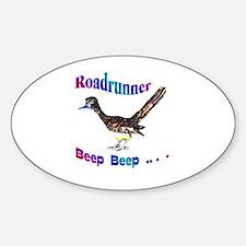 Roadrunner Beep Beep Oval Decal