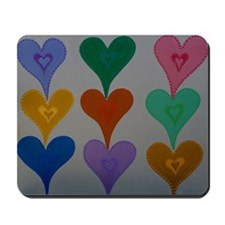 Touching Hearts Mousepad
