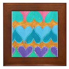 Floating Hearts Framed Tile