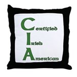 Certified Irish American Throw Pillow