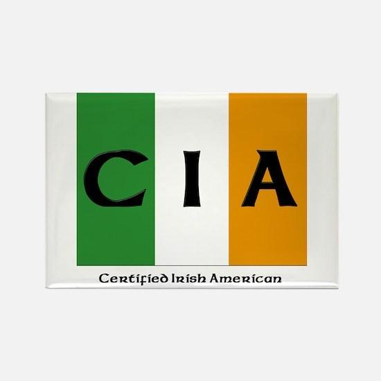 Certified Irish American Rectangle Magnet