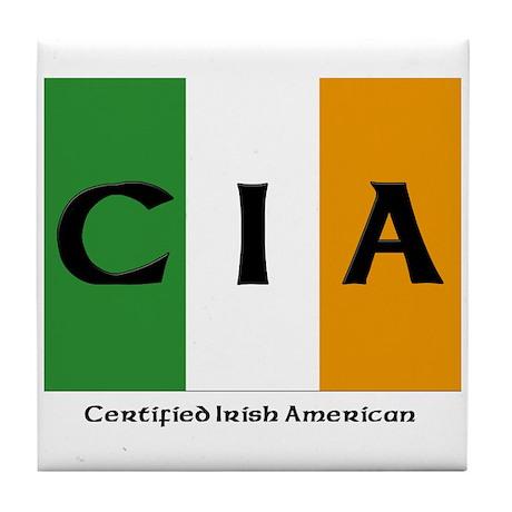 Certified Irish American Tile Coaster