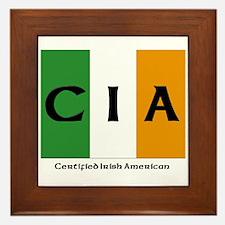 Certified Irish American Framed Tile