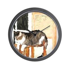Cat Digitally Manipulated Pho Wall Clock