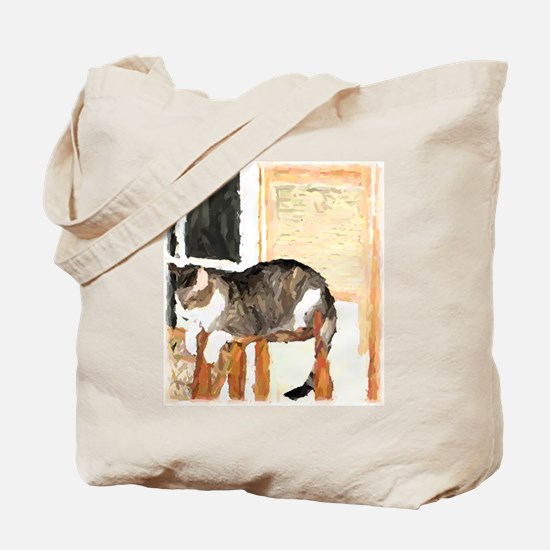 Cat Digitally Manipulated Pho Tote Bag