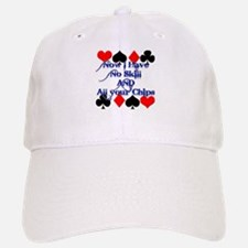 No Skill, All Chips Funny Pok Baseball Baseball Cap