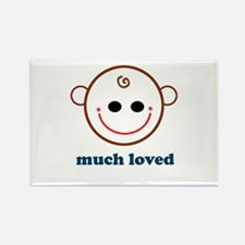Much Loved Baby Face Rectangle Magnet