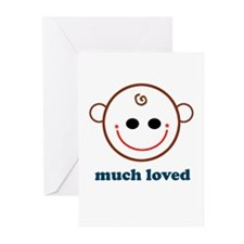 Much Loved Baby Face Greeting Cards (Pk of 10)