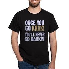 Once You Go Khaki Black T-Shirt