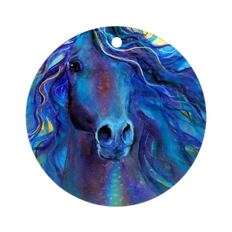 Arabian horse Ornament (Round)
