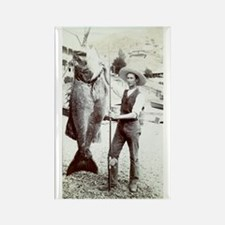 19th C. Fisherman Rectangle Magnet