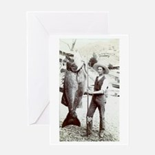 19th C. Fisherman Greeting Card