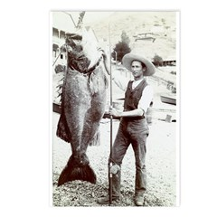 19th C. Fisherman Postcards (Package of 8)