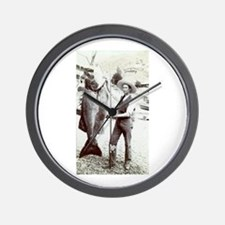 19th C. Fisherman Wall Clock