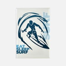 Eat Sleep Surf Rectangle Magnet