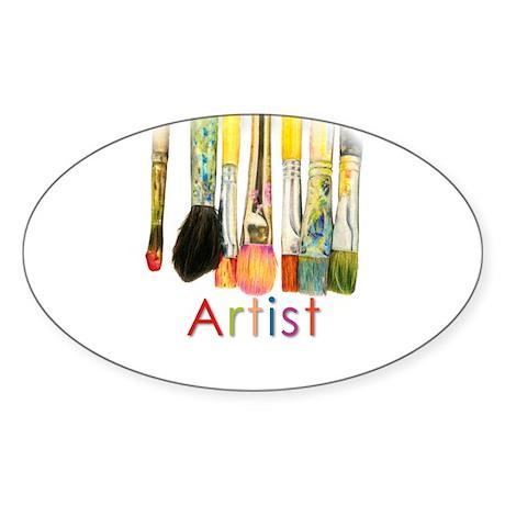 ACEO Art Sticker (Oval)