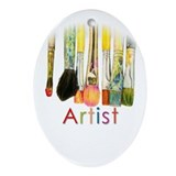 Artist Oval Ornaments