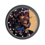 Bead Girl Wall Clock
