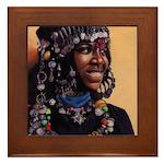 Bead Girl Framed Tile