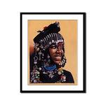 Bead Girl Framed 12x9 Panel Print