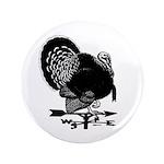 """Turkey Weathervane 3.5"""" Button (100 pack)"""