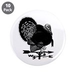 """Turkey Weathervane 3.5"""" Button (10 pack)"""
