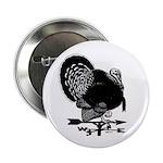 """Turkey Weathervane 2.25"""" Button (10 pack)"""