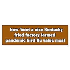 Pandemic Factory Farm Bird Flu Meal Bumper Car Sticker